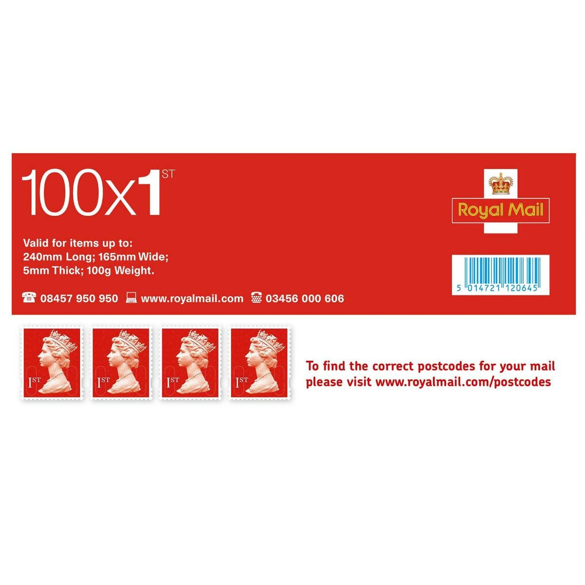 Image of 1st Class Postage Stamps Sheet of 100 *