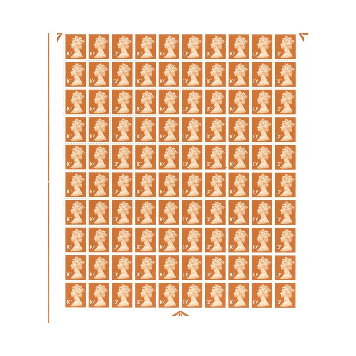 Image of 10p Postage Stamps Sheet of 100 *