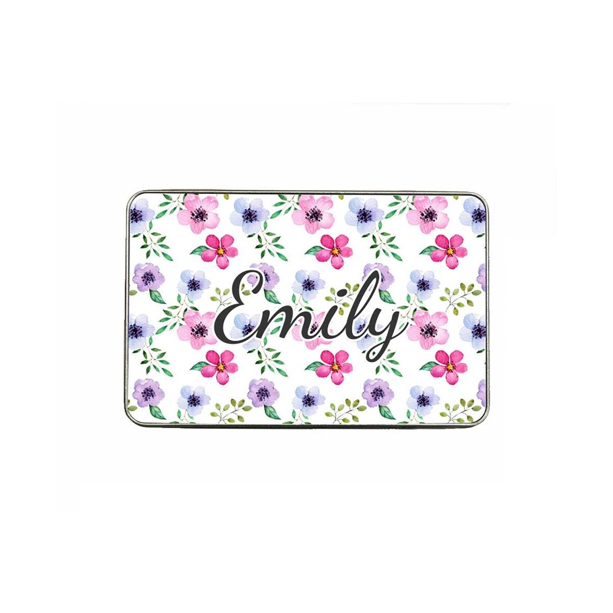 ryman personalised floral large pencil tin