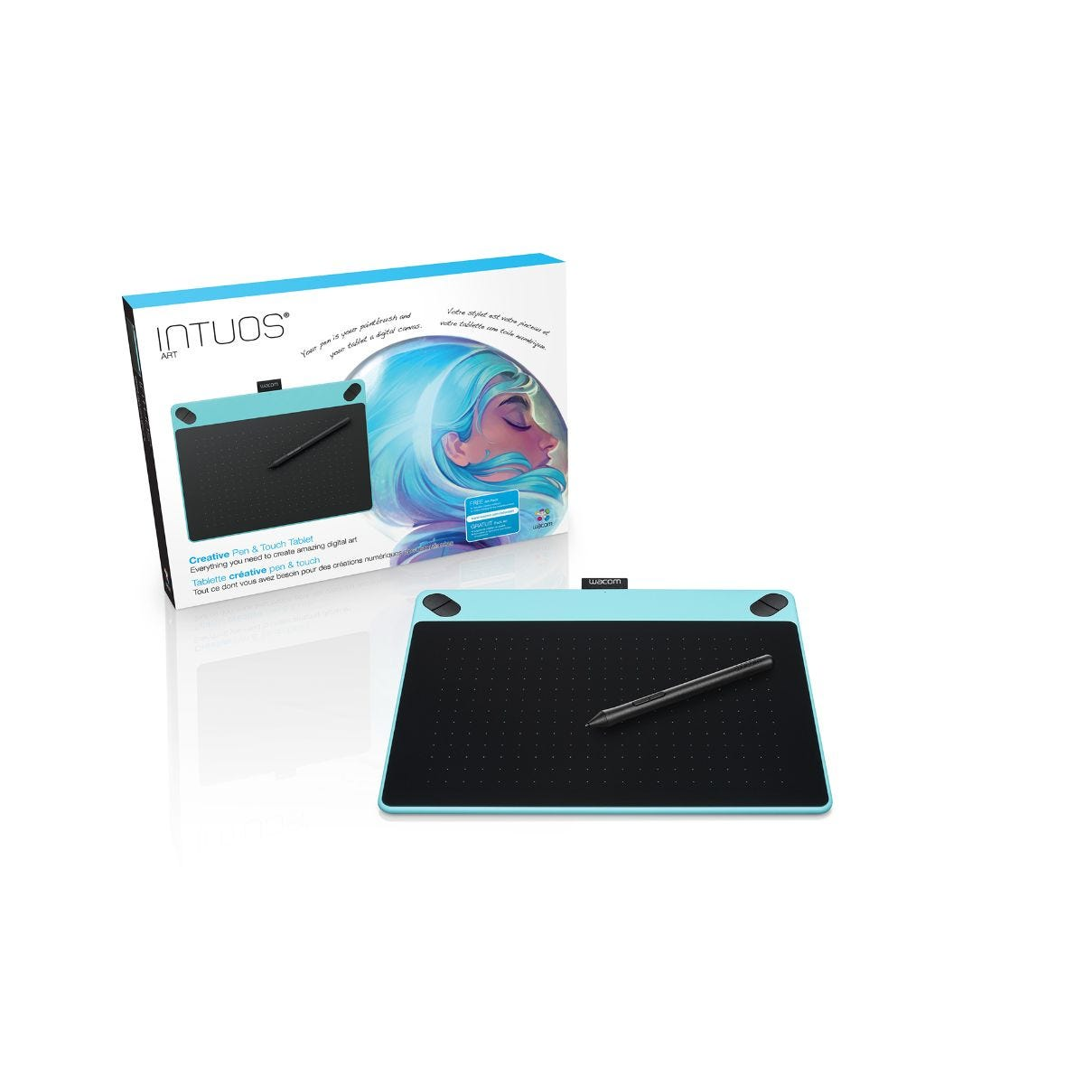 Wacom Intuos Art Pen and Touch Medium Blue, Blue.