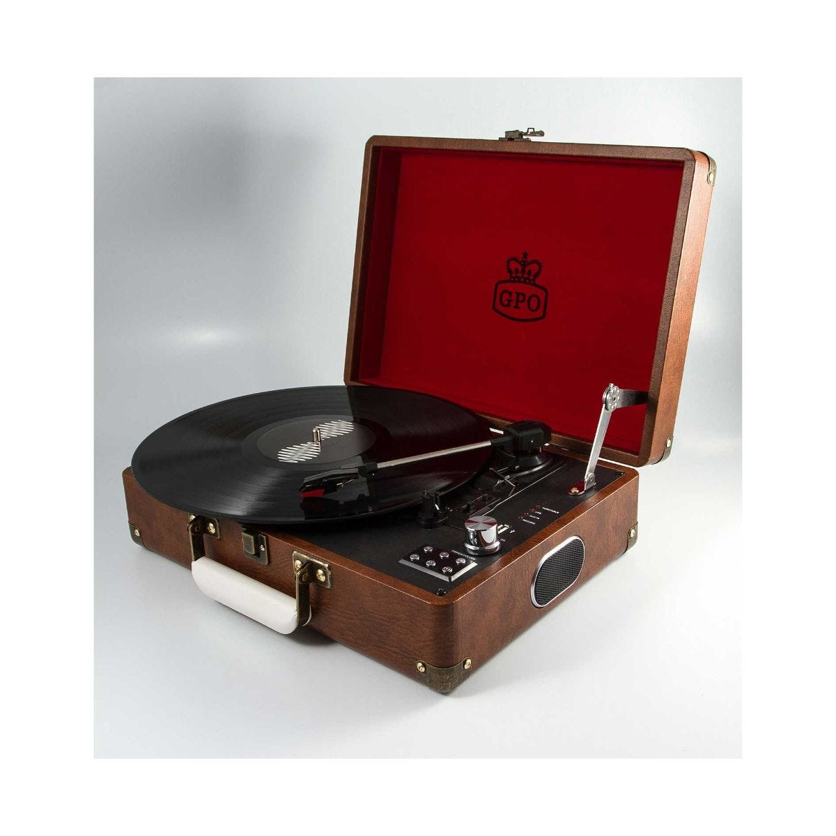 Image of GPO Attache Record Player Brown, Brown