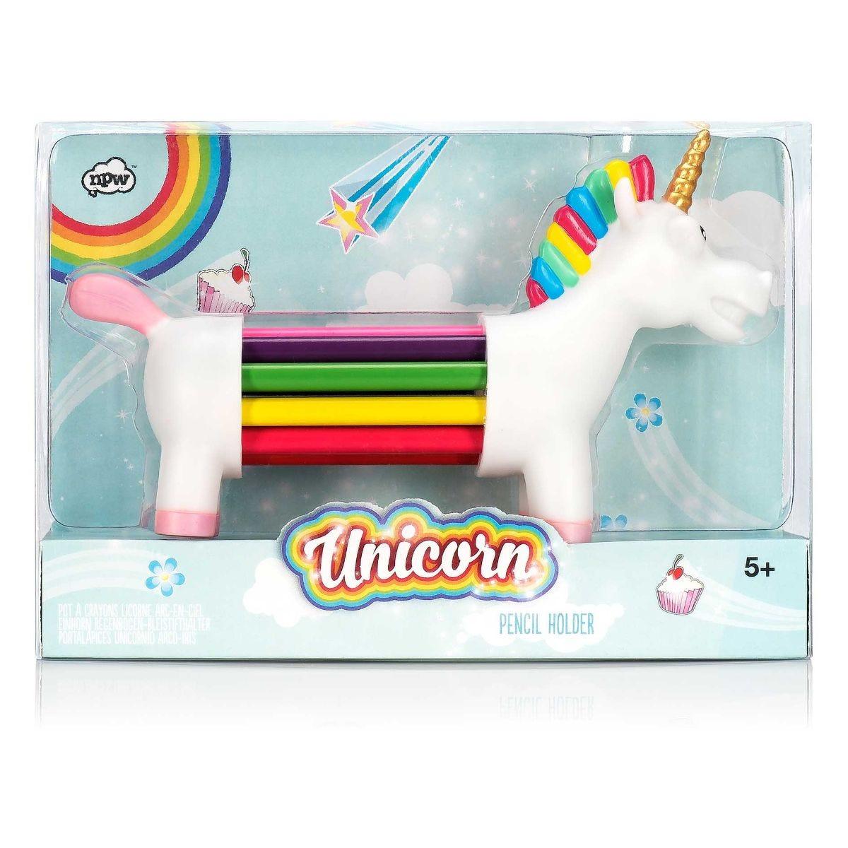 Unicorn Rainbow Pencil Holder, Assorted.