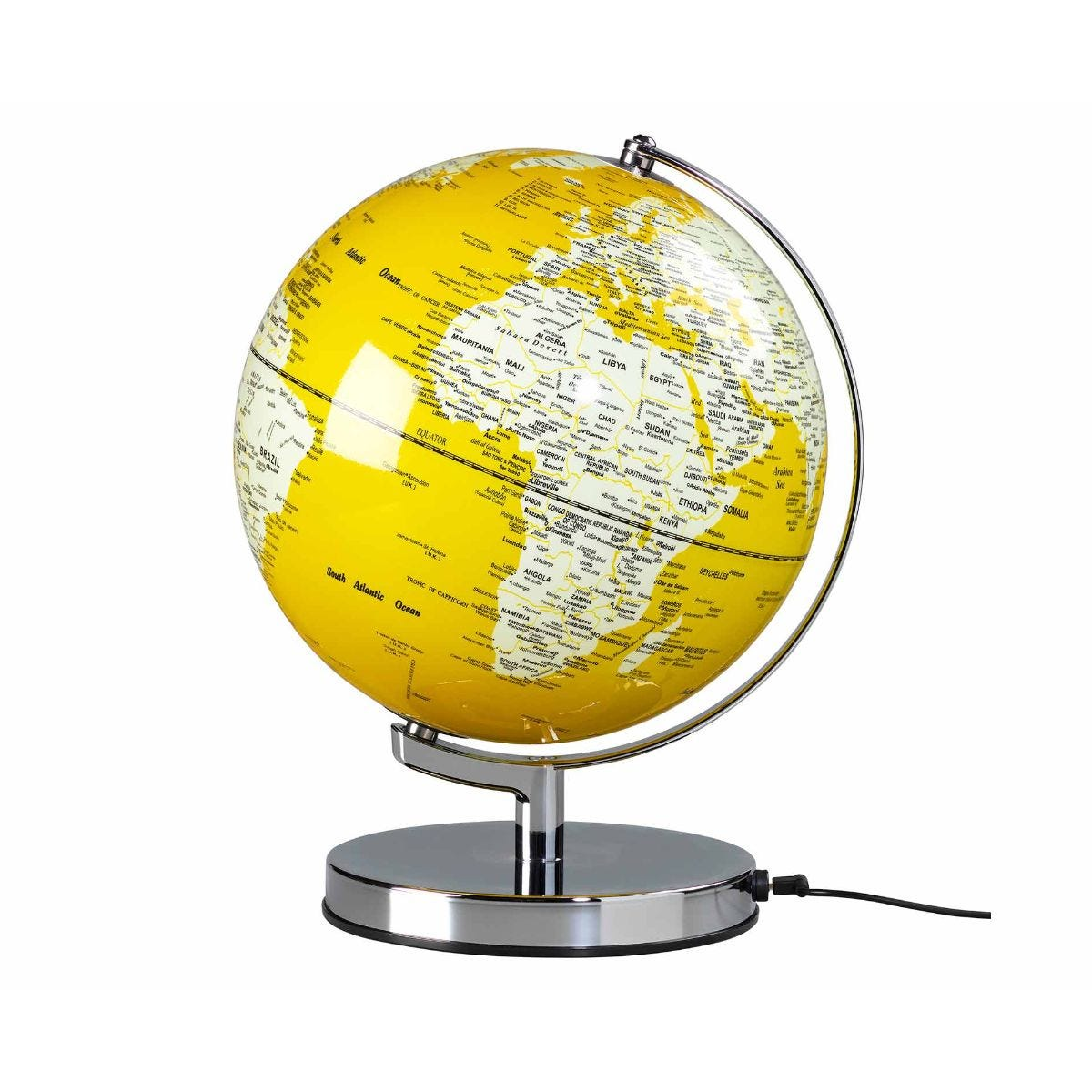 Wild and Wolf Wild Wood Illuminated LED Globe Light 10 Inch English Mustard