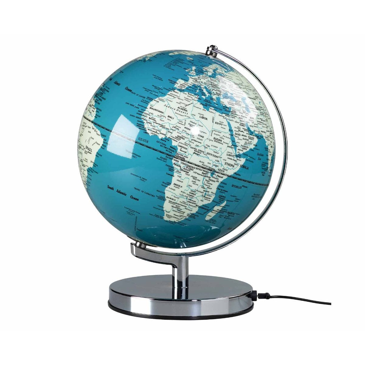 Wild and Wolf Wild Wood Illuminated LED Globe Light 10 Inch French Blue