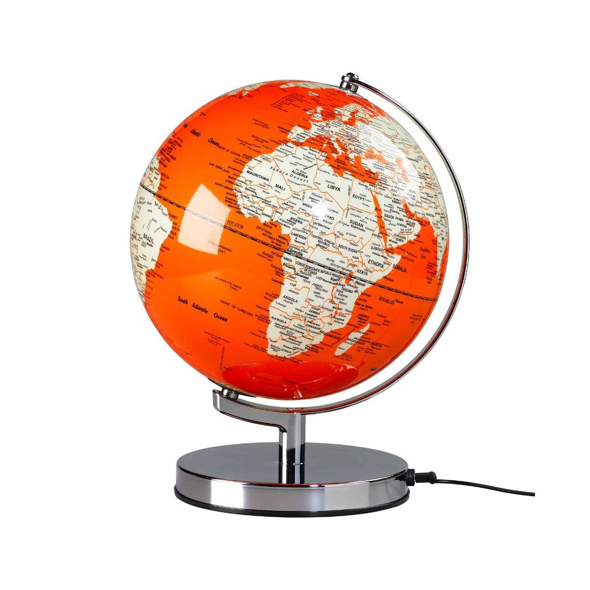 Wild and Wolf Wild Wood Illuminated LED Globe Light 10 Inch Goldfish Orange
