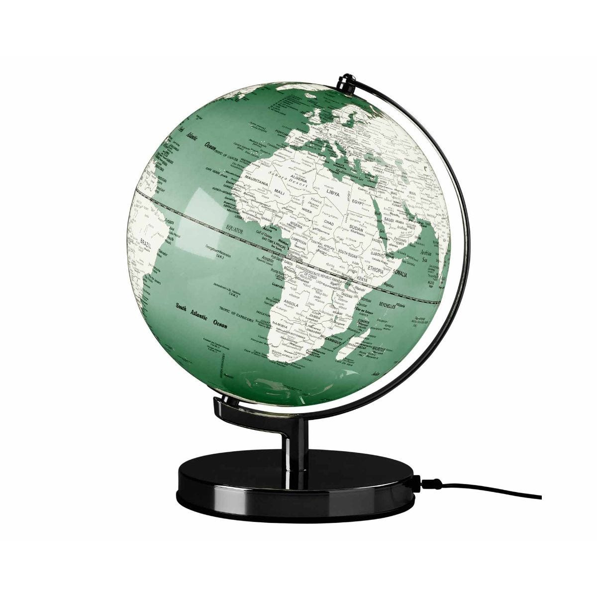 Wild and Wolf Wild Wood Illuminated LED Globe Light 10 Inch Swedish Green