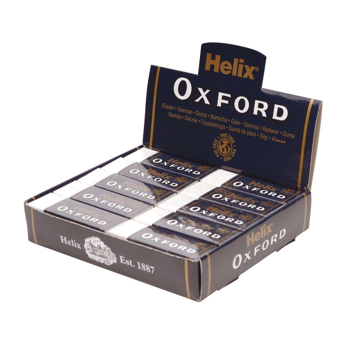 Helix Oxford Large Sleeved Eraser Pack of 20.