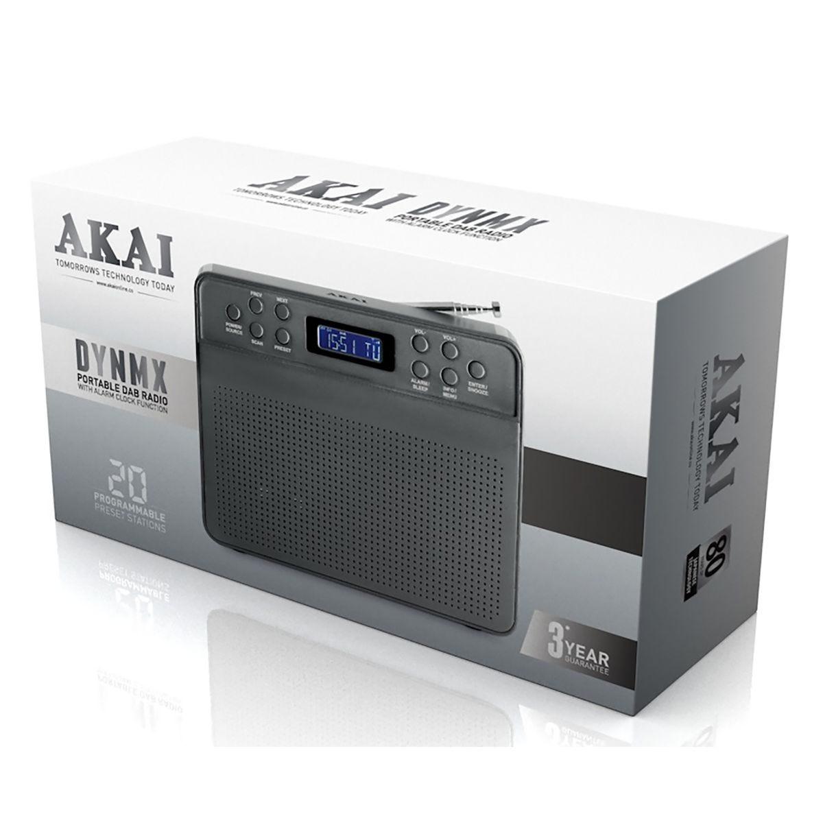 Image of Akai DAB Portable Radio Space Grey, Space Grey