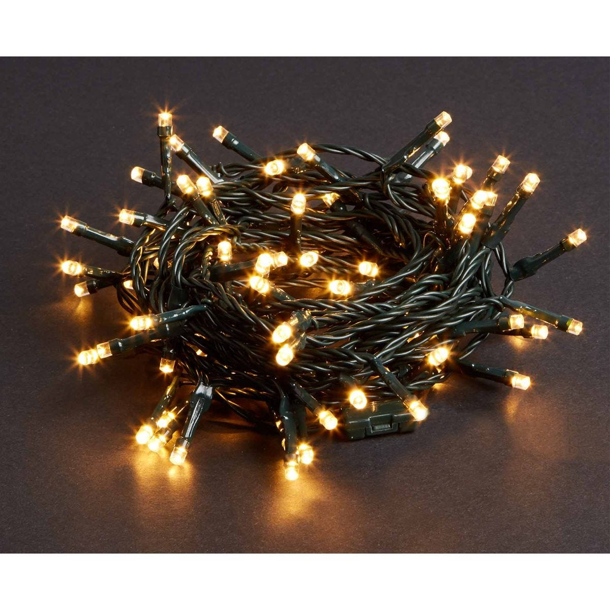 Image of 100 LED String Lights Mains Operated Warm White, White