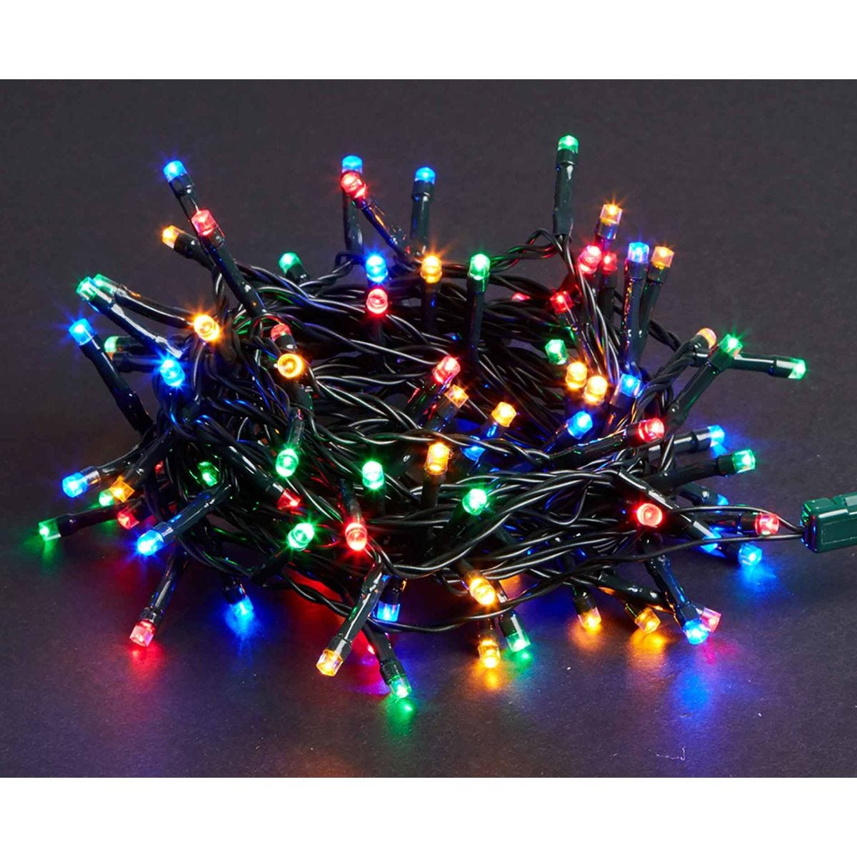 Image of 100 LED String Lights Mains Operated Multi Coloured