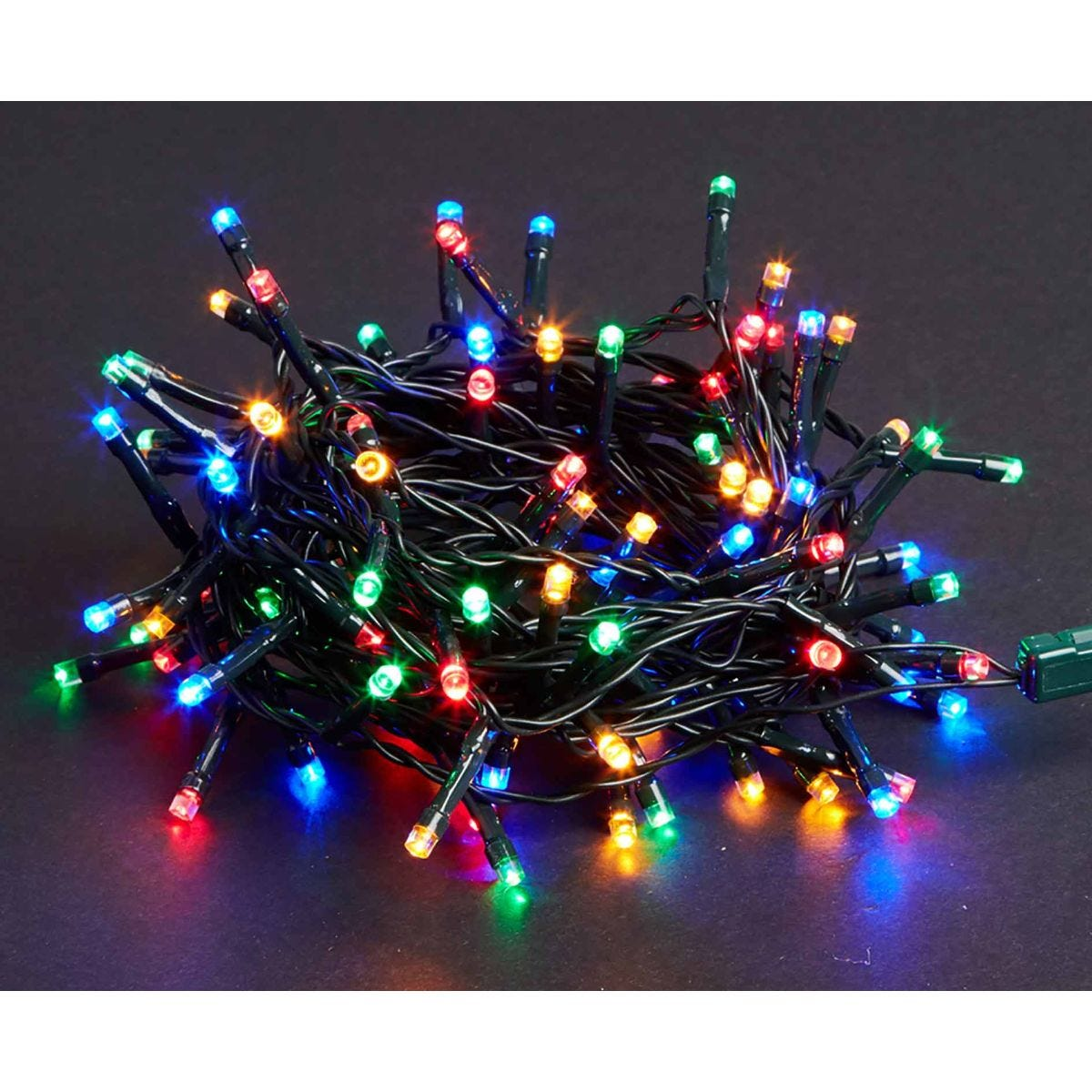 Image of 200 LED String Lights Mains Operated Multi Coloured