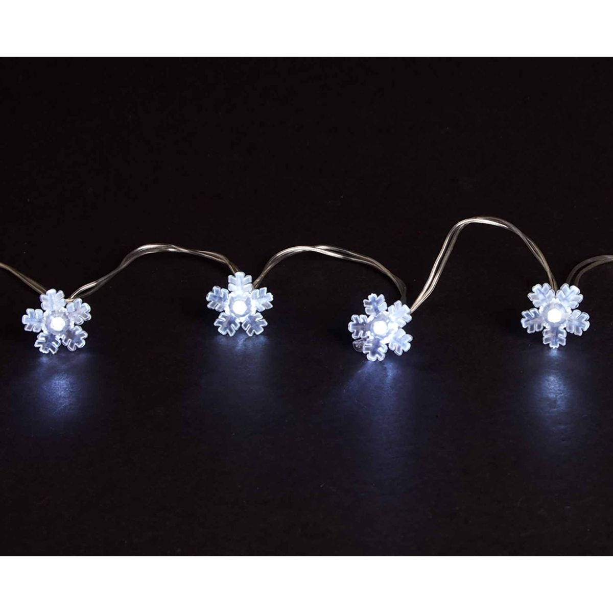 Compare prices for 20 LED String Lights Battery Operated Snowflake Ice White, White
