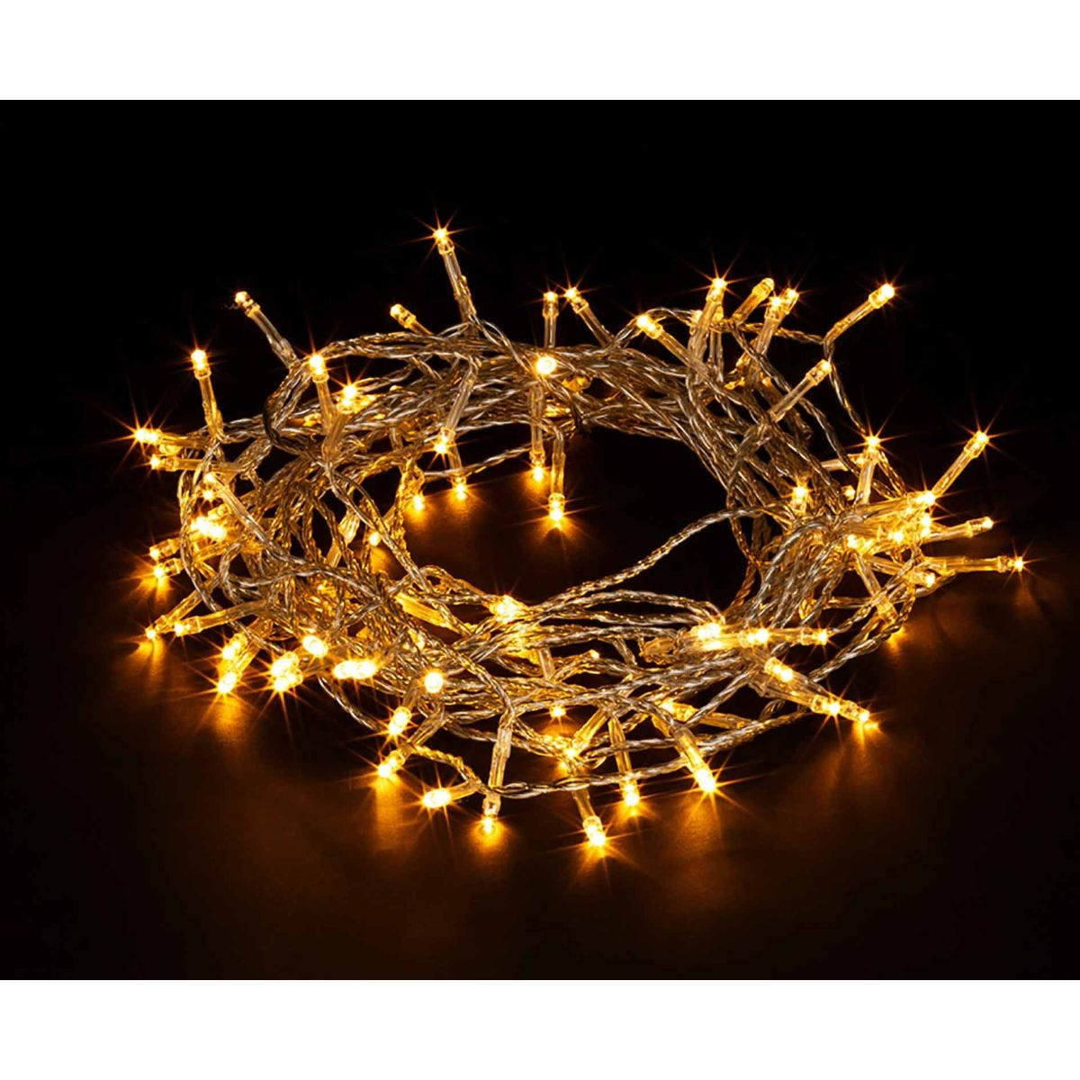 Image of 100 Transparent String Lights Warm White, White