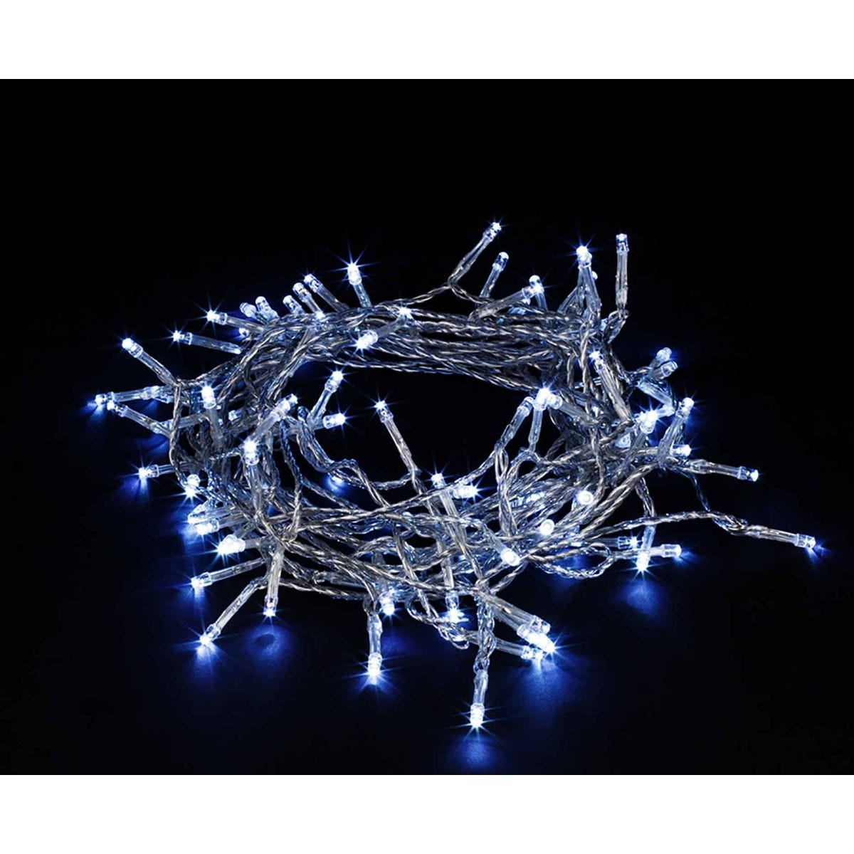 Image of 100 Transparent String Lights Ice White, White
