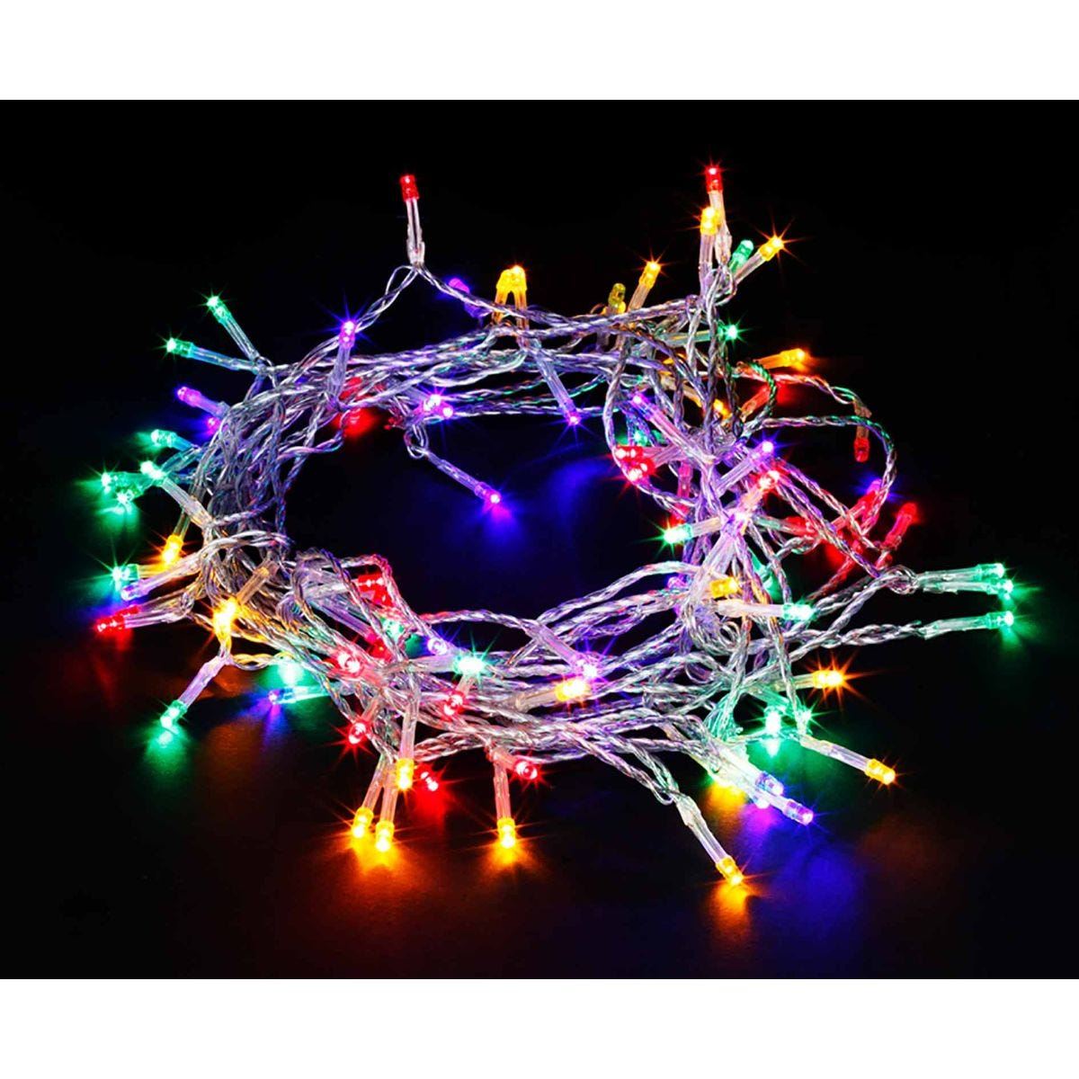 Image of 100 Transparent String Lights Multicolour, Multi