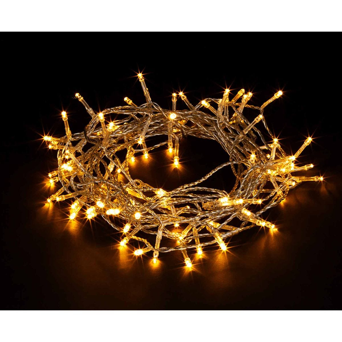 Image of 200 Transparent String Lights Warm White, White