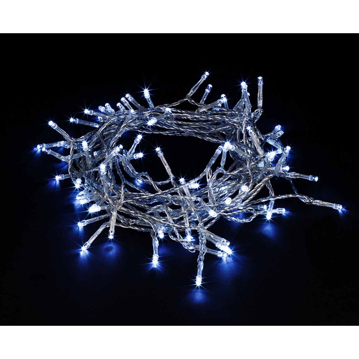 Image of 200 Transparent String Lights Ice White, White
