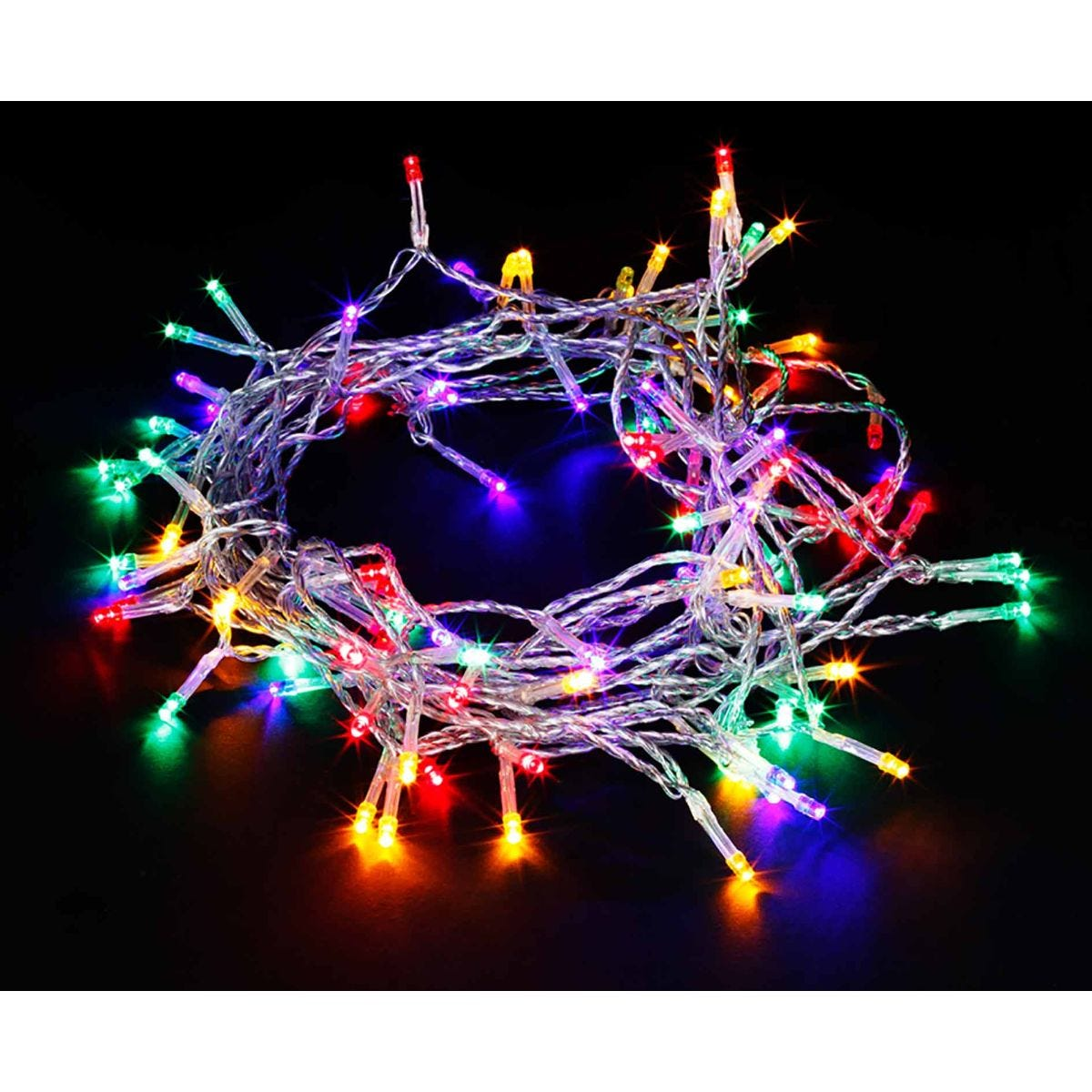 Image of 200 Transparent String Lights Multicolour, Multi