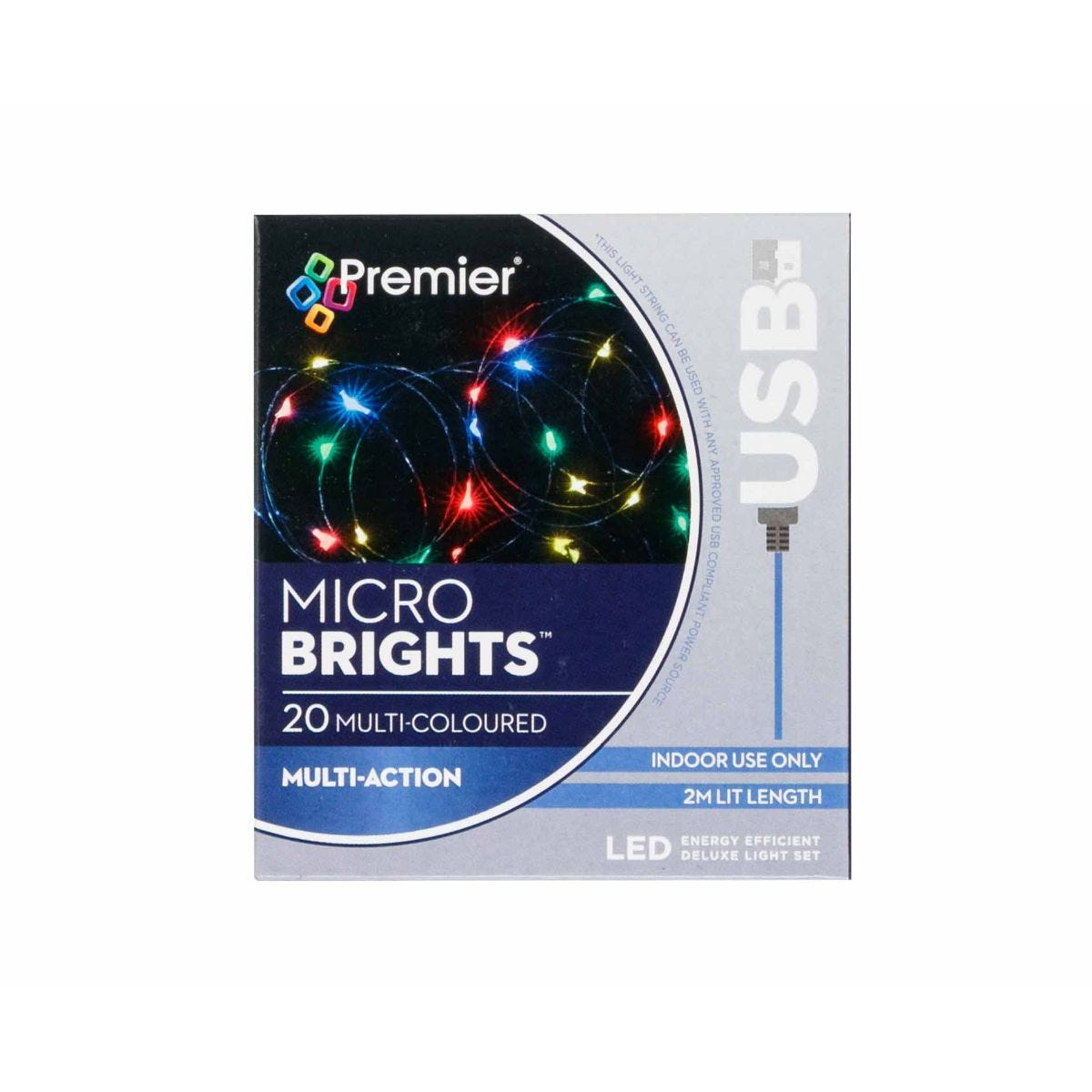Compare prices for 20 USB Christmas Lights Multi Coloured