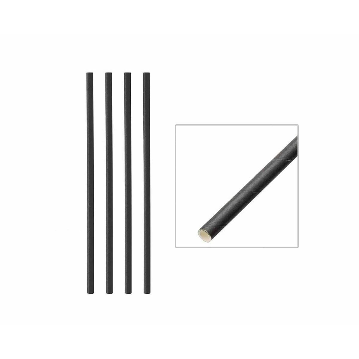 Biodegradable Paper Straws Box of 250, Black