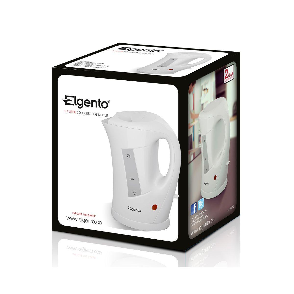 Image of Elgento 1.7 Litre Kettle, White