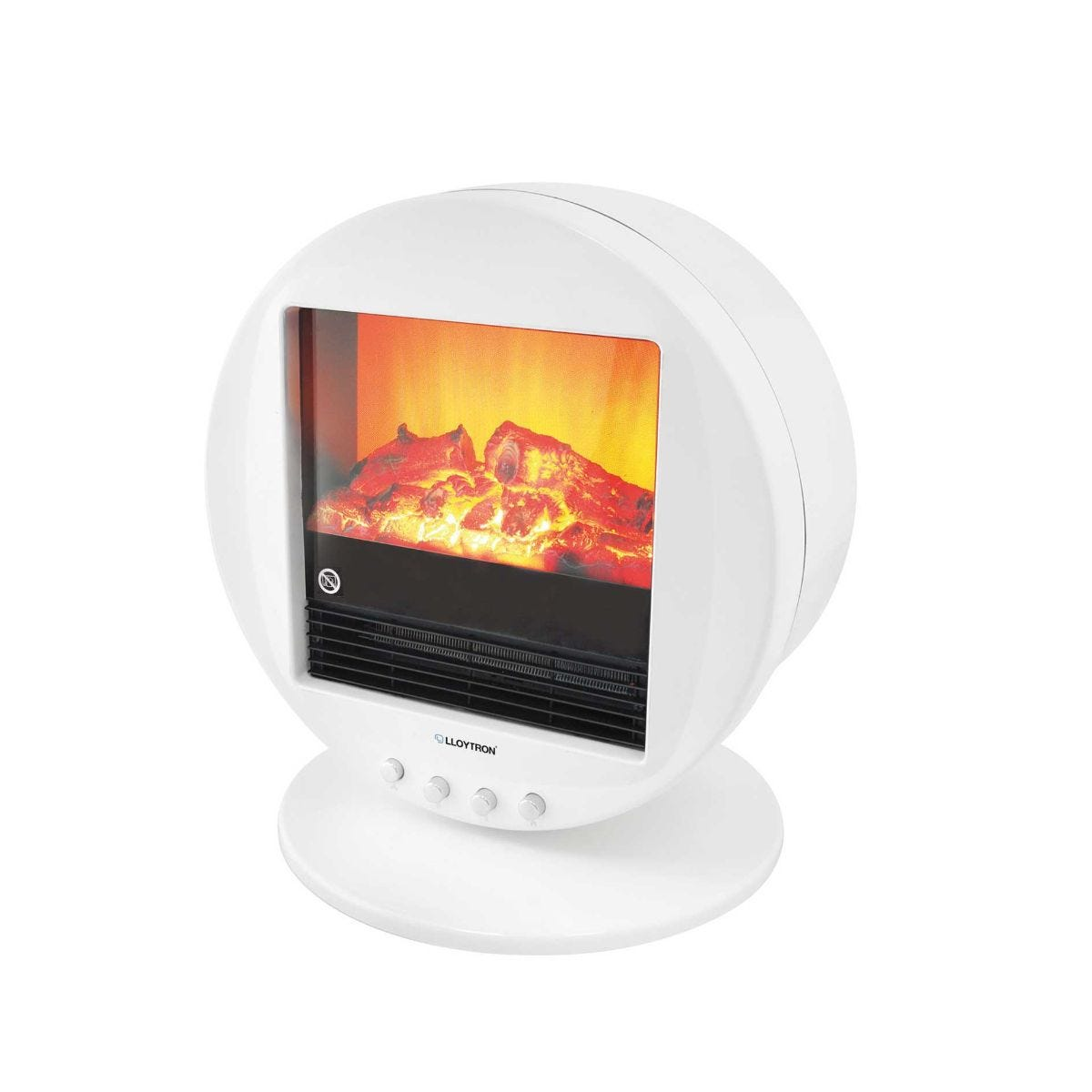 Image of 2000w Living Flame Oscillating Electric Fire, White