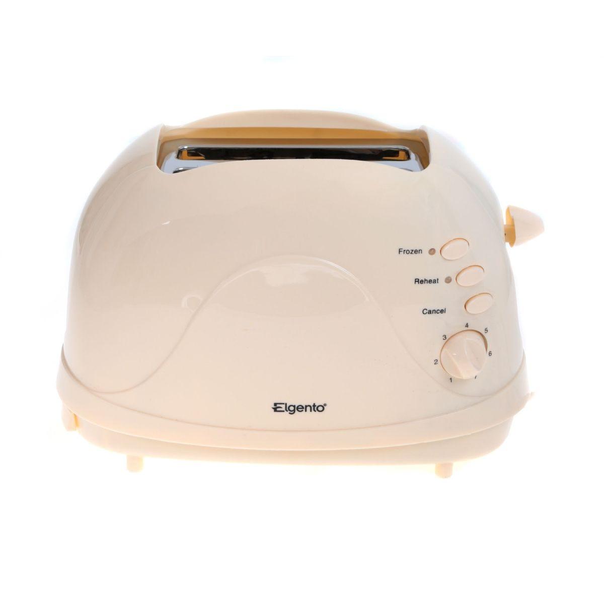Elgento 2 Slice Toaster, Cream