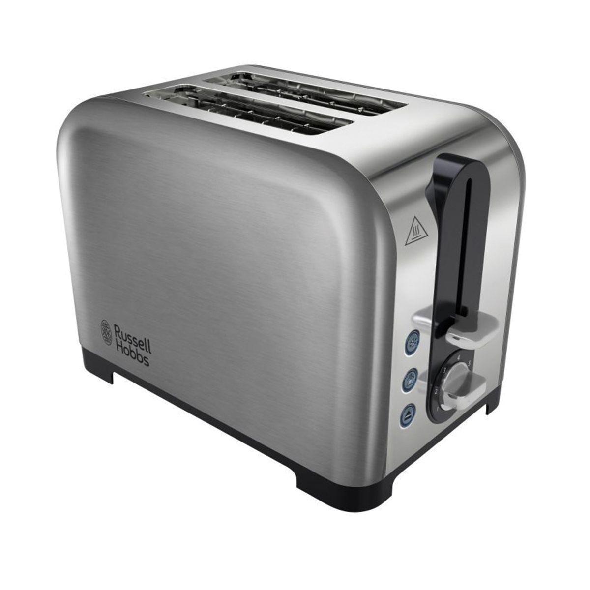 Russell Hobbs 2 Slice Toaster Brushed Stainless Steel, S/Steel