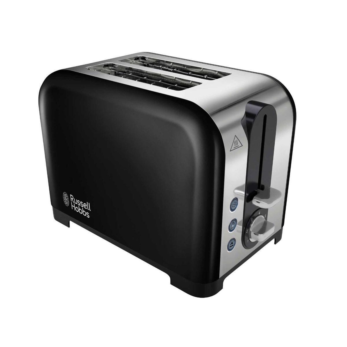Russell Hobbs 2 Slice Canterbury Black Toaster