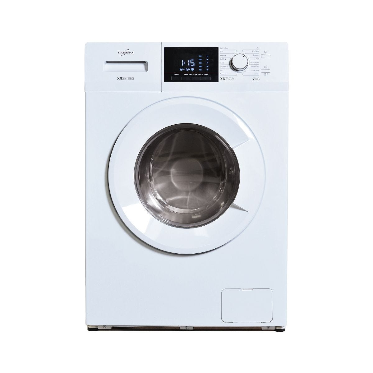 Statesman Washing Machine White 7KG Load, WHITE