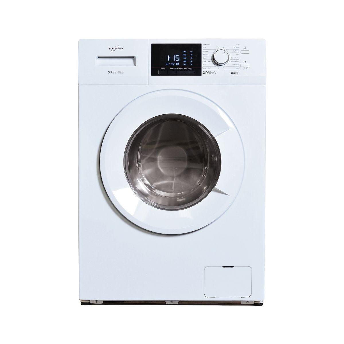 Statesman Washing Machine White 8KG Load, WHITE