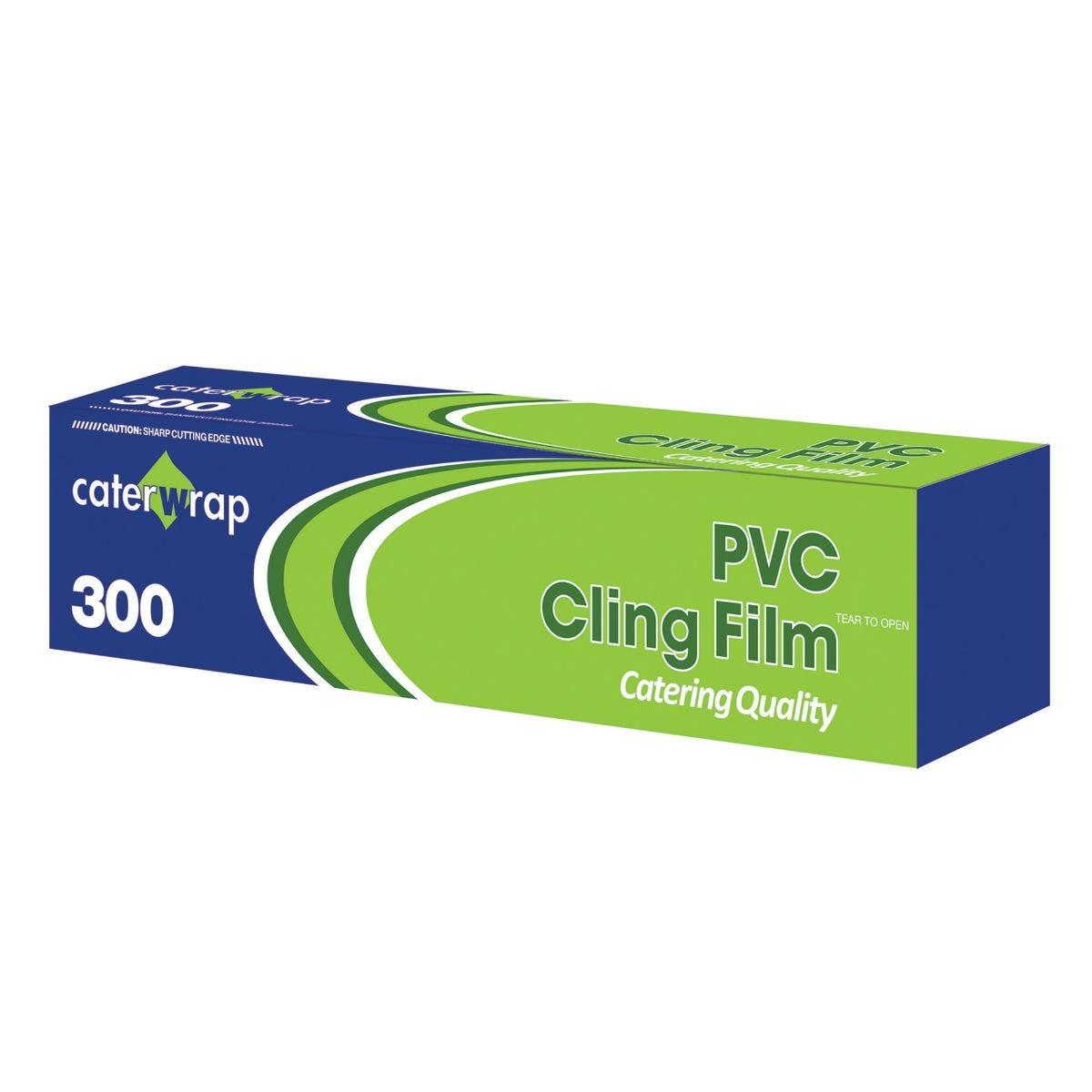 Caterwrap PVC Cling Film 30cm x 300m with Cutter Box