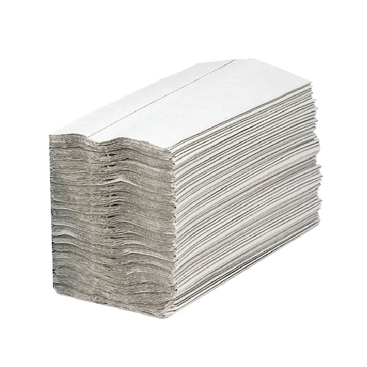 Image of 2Work White 1-Ply C-Fold Hand Towel Pack of 2955