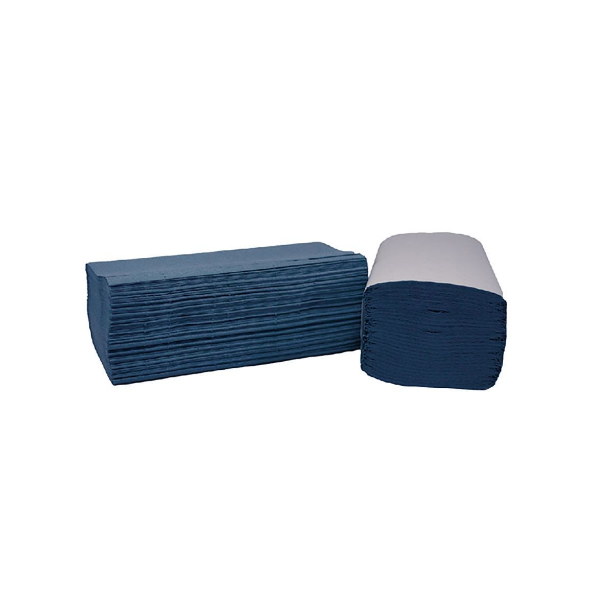 Image of 2Work I-Fold 1-Ply Hand Towels 190x250mm Pack of 3600 Blue, Blue