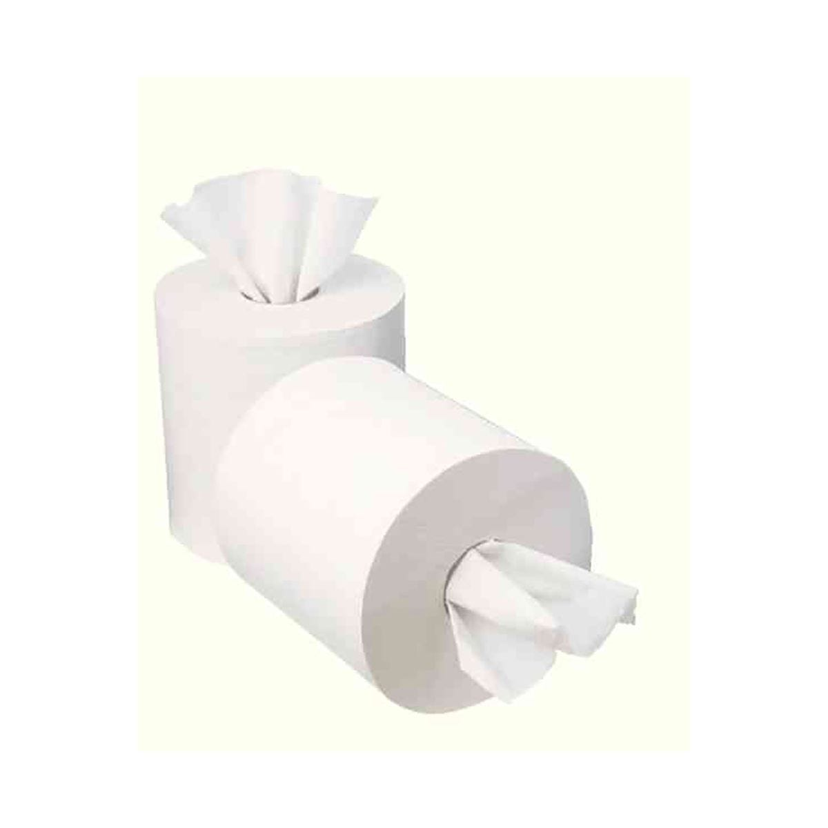 Compare prices for 2Work 1 Ply Mini Centrefeed 120 Metre Paper Roll Pack of 12