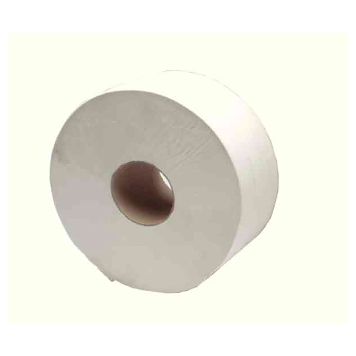 Image of 2Work White Jumbo 2 Ply Toilet Roll 410 Metre Pack of 6