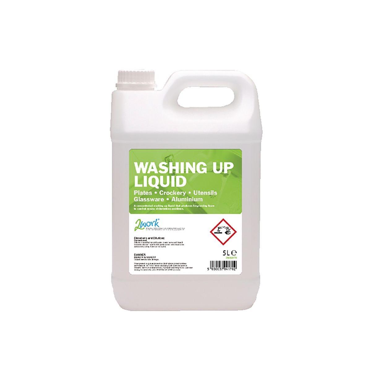 Image of 2Work Economy Washing Up Liquid 5 Litre