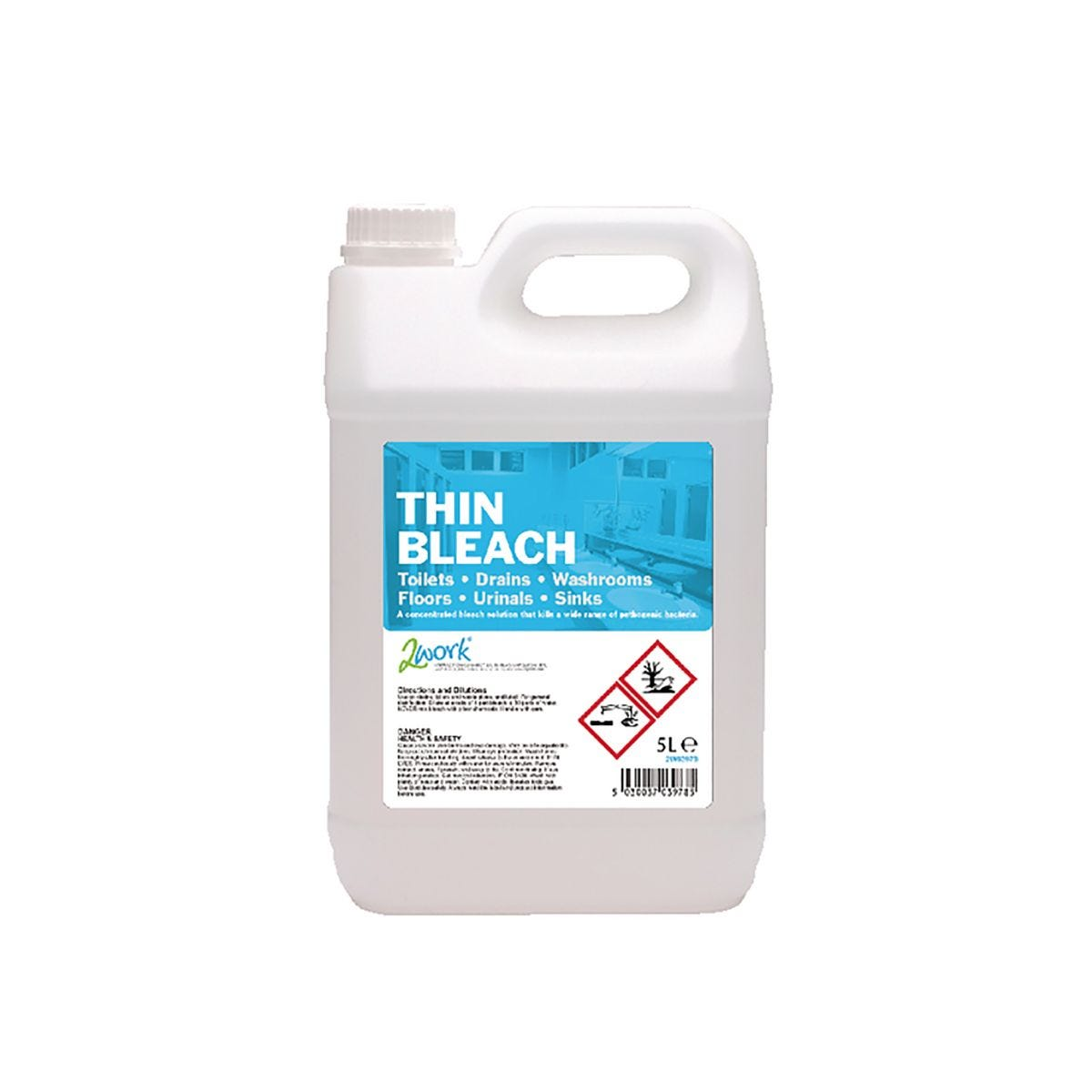 Image of 2Work Thin Bleach 5 Litre