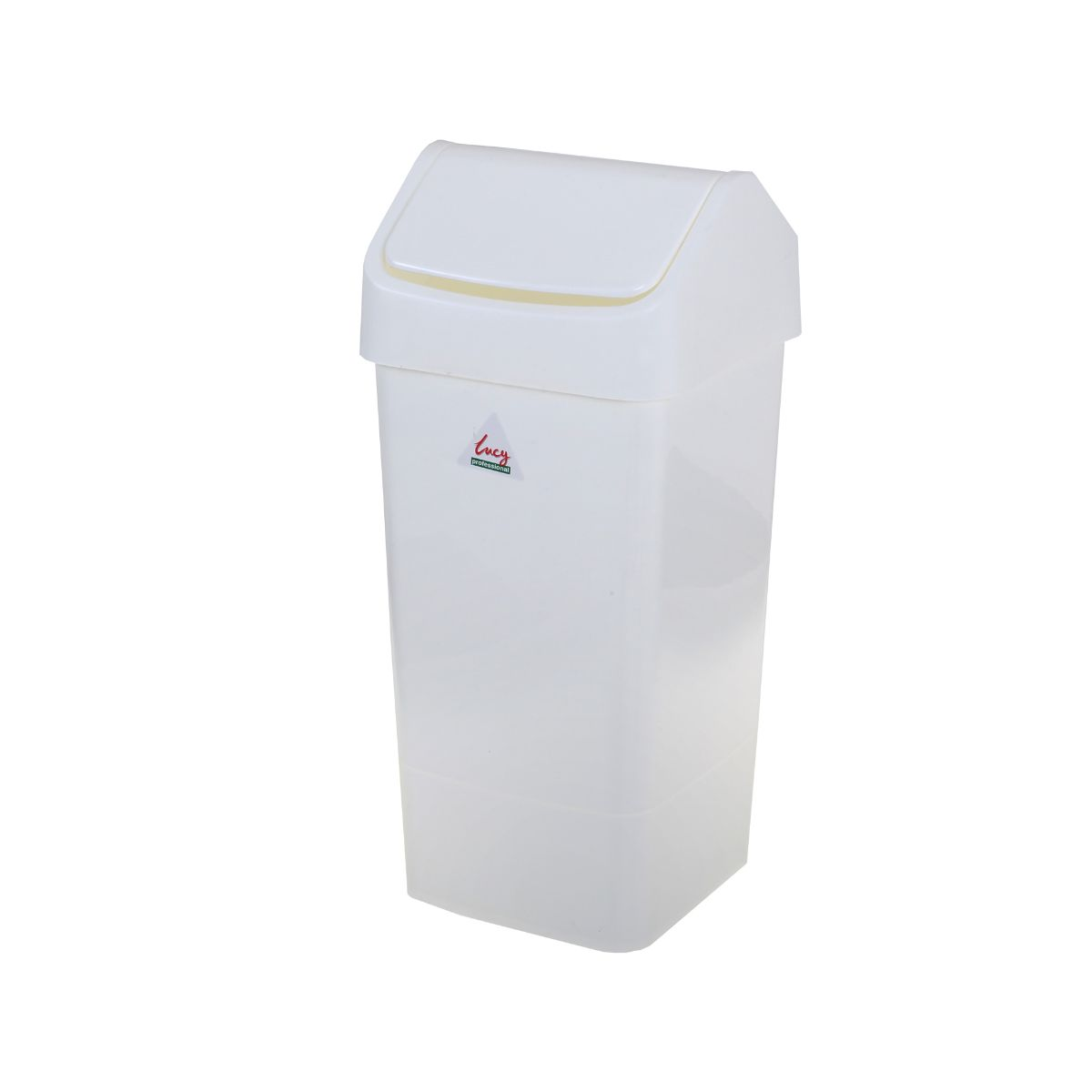 Lucy Swing Top Bin 50 Litre, White.