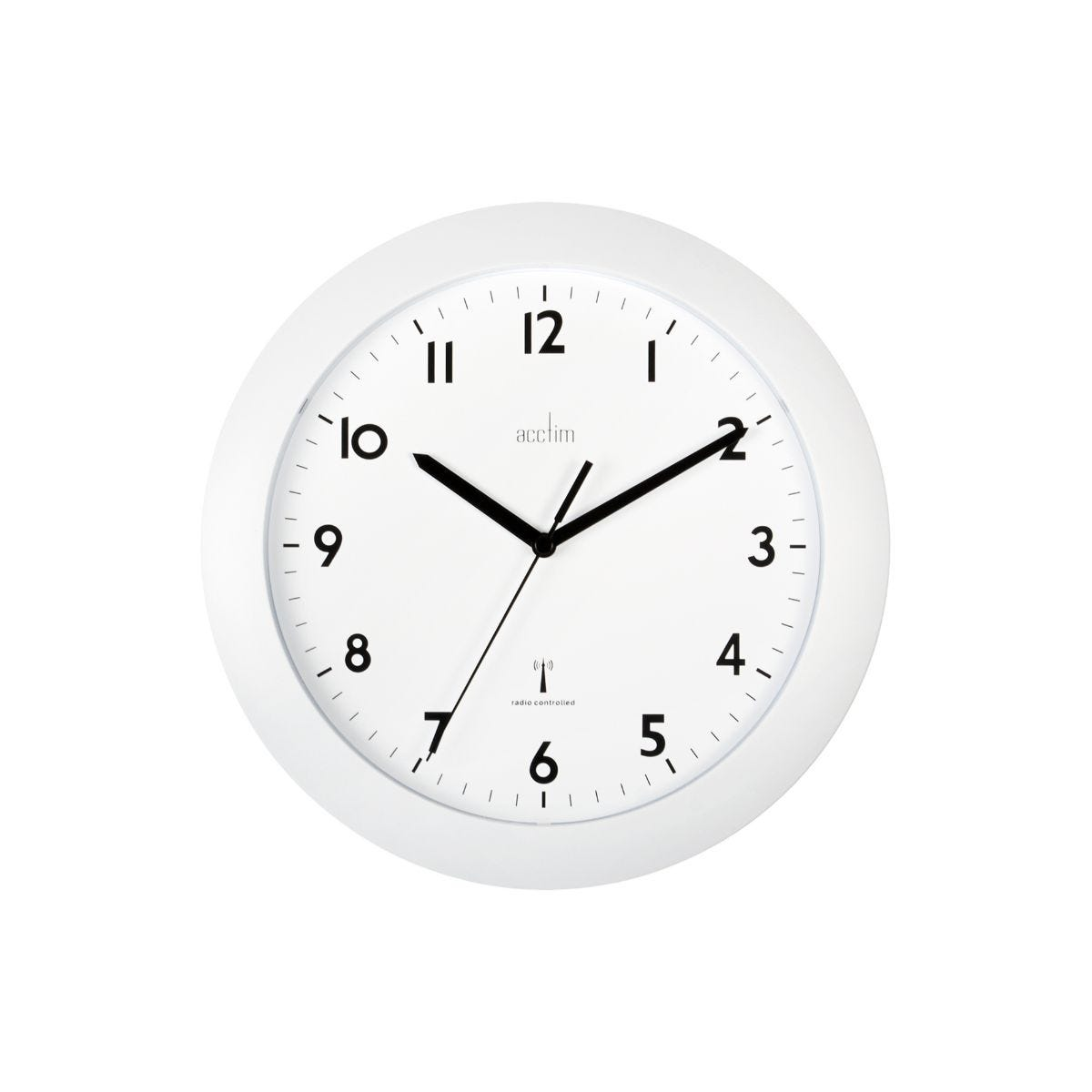Image of Acctim Cadiz Radio Controlled Wall Clock, White