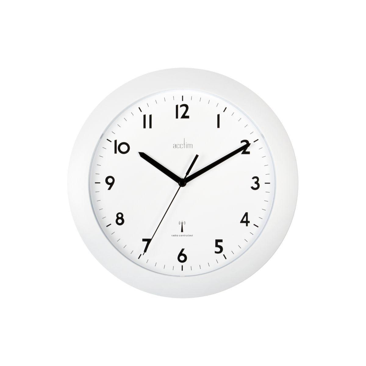 Image of Cadiz Radio Contrld Wall Clock, White