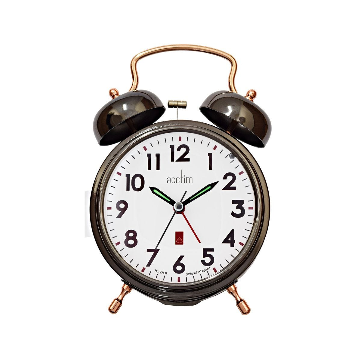 Image of Acctim Rover Bell Alarm Clock, Black