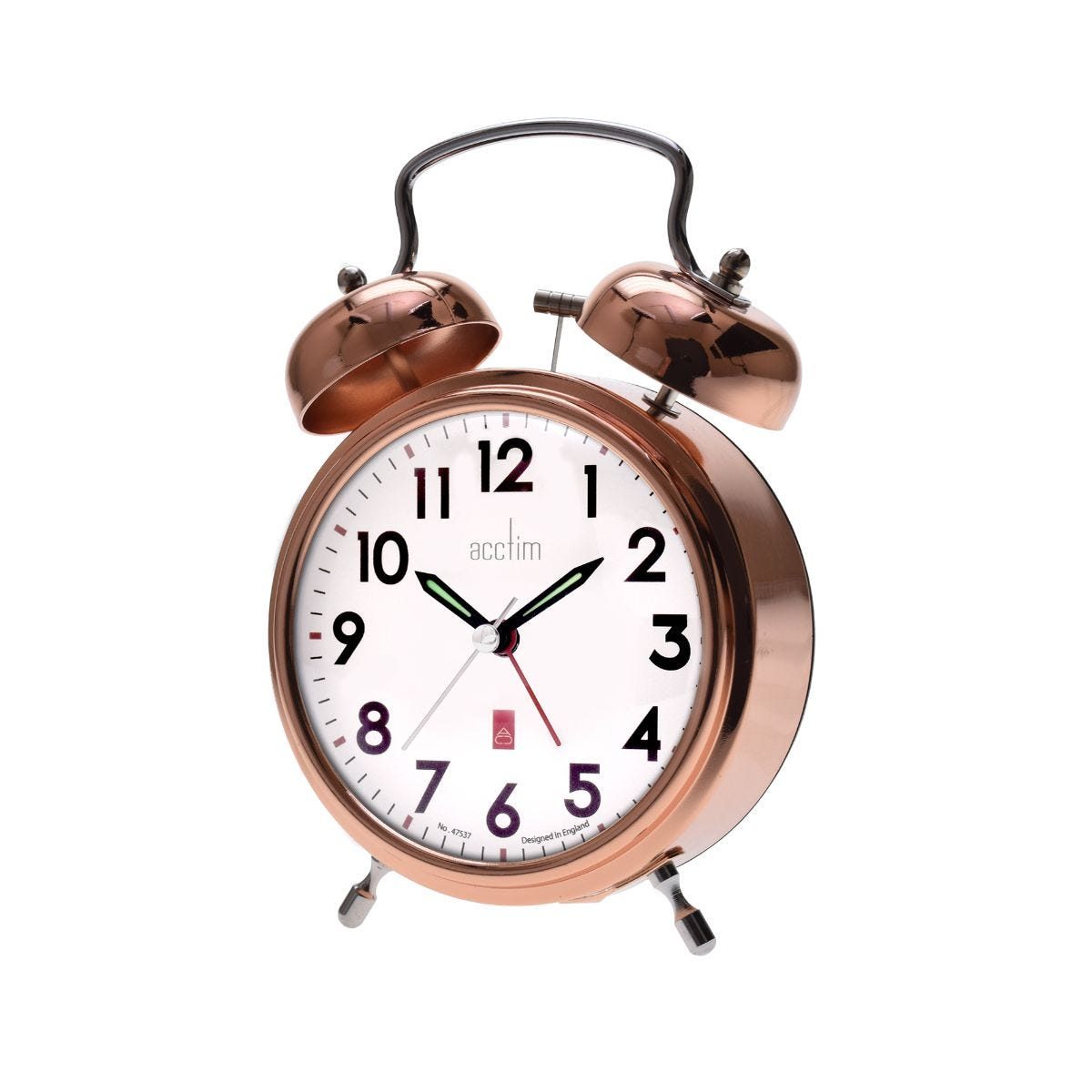 Image of Acctim Rover Bell Alarm Clock, Copper