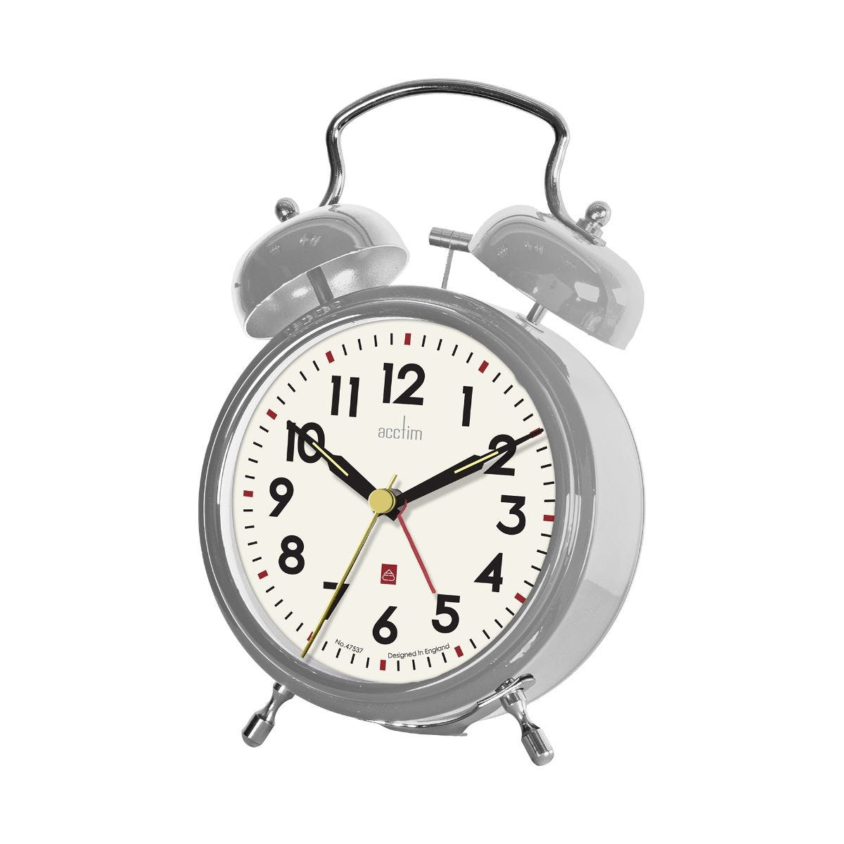 Image of Acctim Rover Bell Alarm Clock, Silver