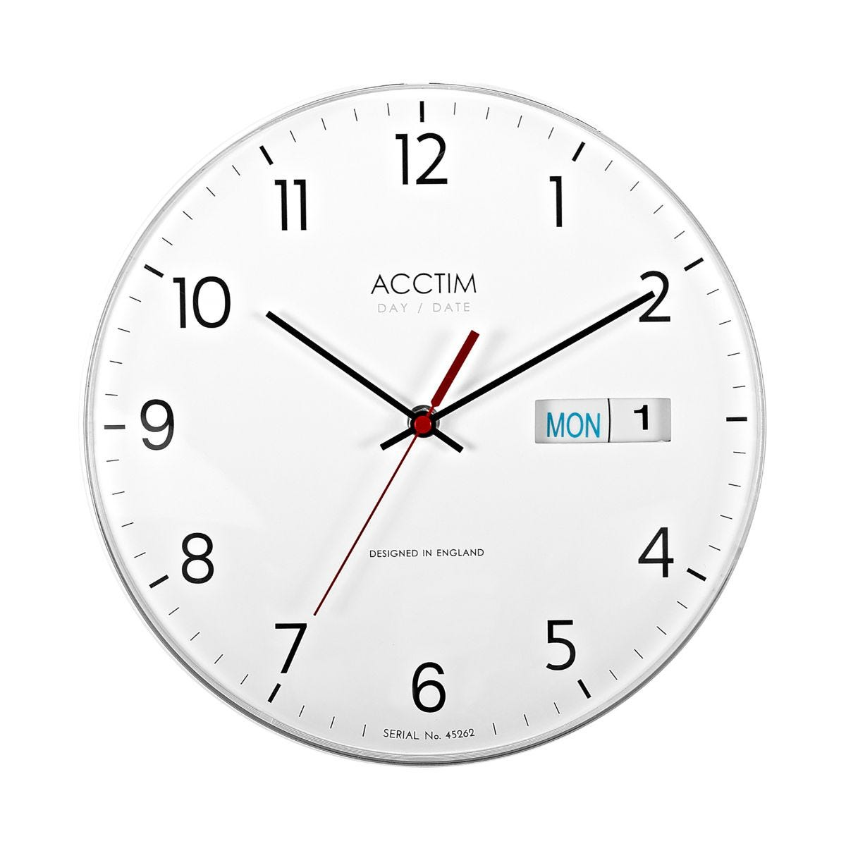 Image of Acctim Datetime Wall Clock, White