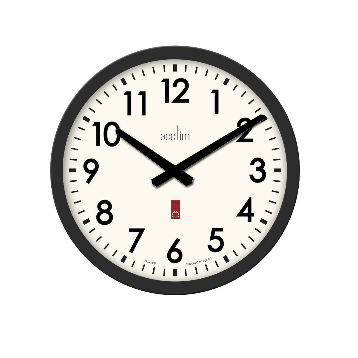 Image of Acctim Elswick Wall Clock, Black