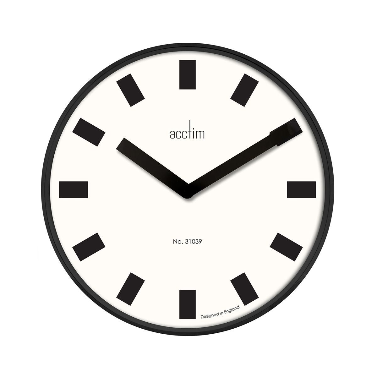 Image of Acctim Arvid Wall Clock, Black