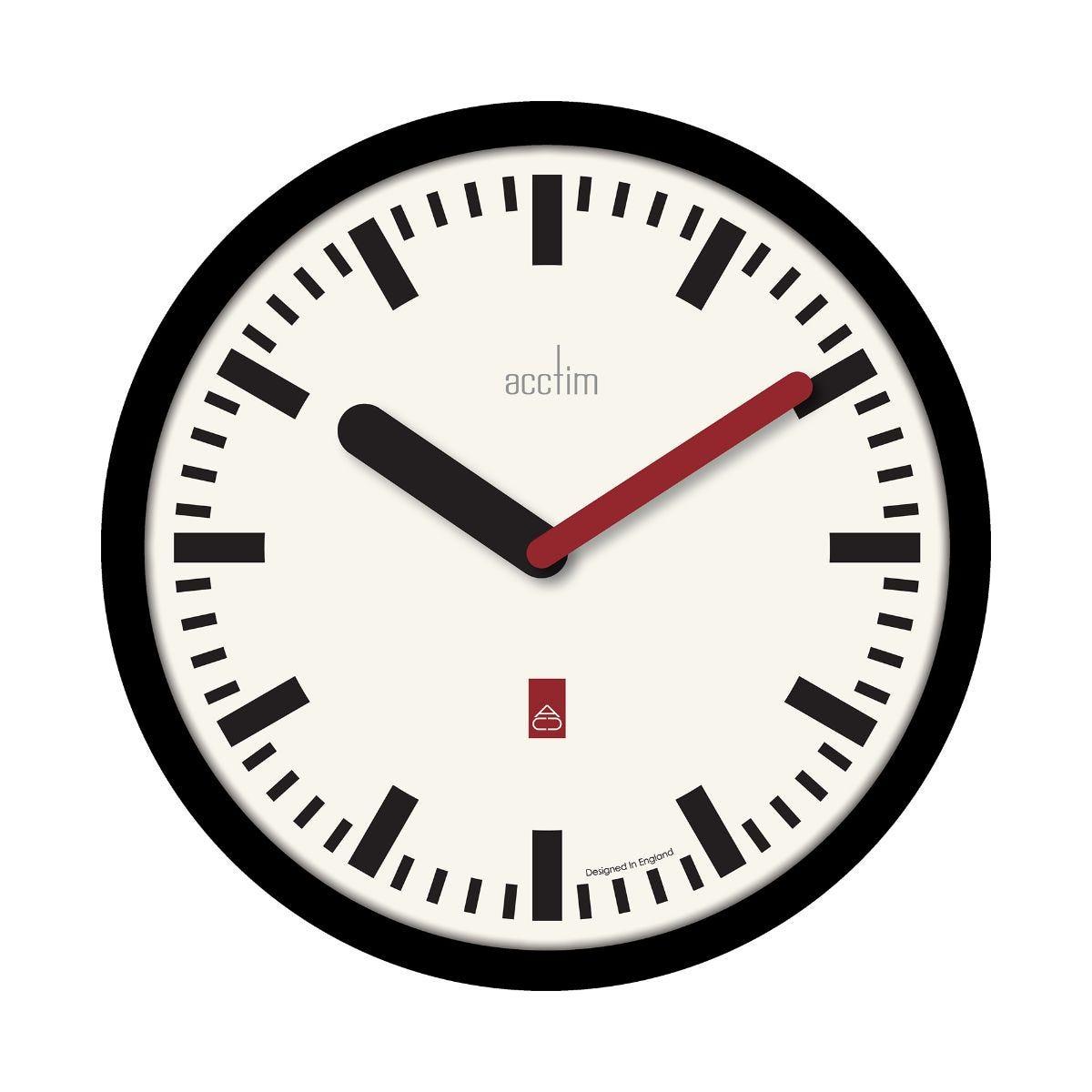 Image of Acctim Morris Wall Clock Black, Black