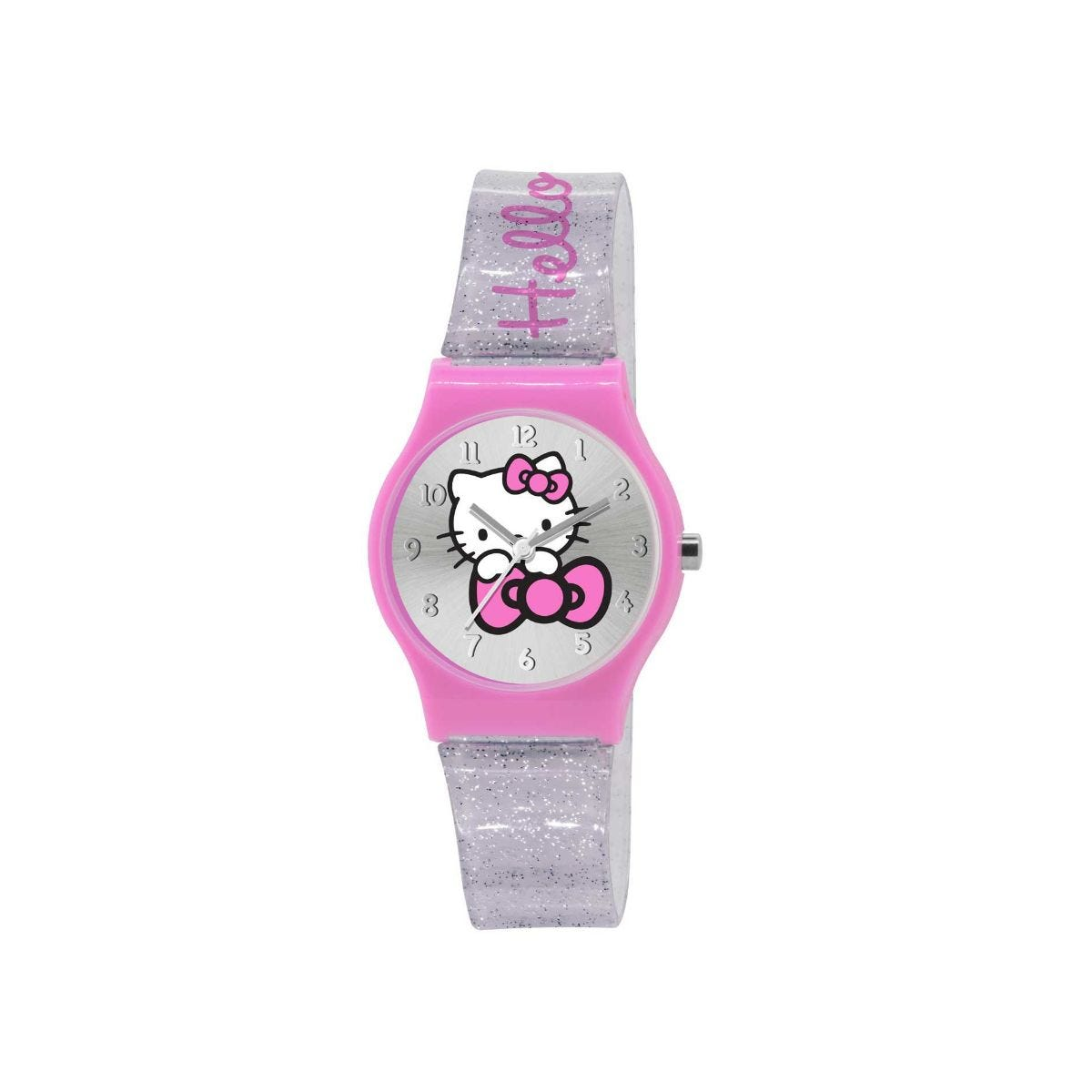 Hello Kitty Glittery Watch, Silver