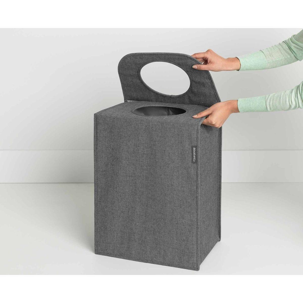 Brabantia Rectangular Laundry Bag 55 Litre, Charcoal